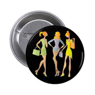 girls pinback button
