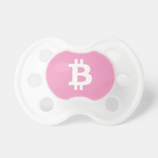 Girl's Pink Baby Bitcoin Pacifier BooginHead Pacifier