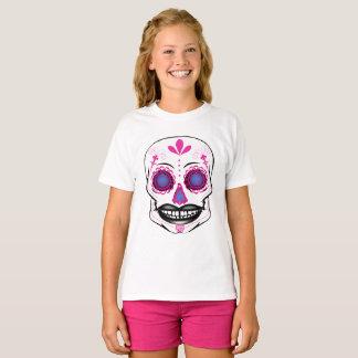 Girls Pink Candy Skull Shirt