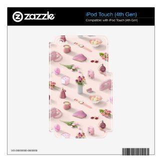 Girl's Pink Dream Skin For iPod Touch 4G