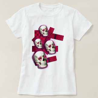 girls pink electro Skull dance club tank top