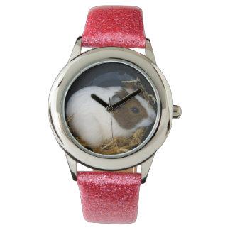 Girls_Pink_Glitter_Guinea_Pig_Watch. Wrist Watch