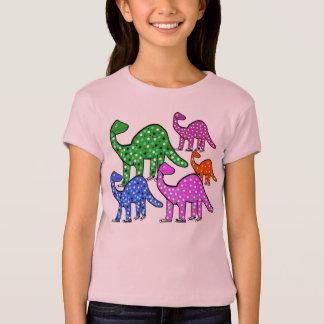 Girl's Pink & Green & Purple Dinosaur T-shirt Gift