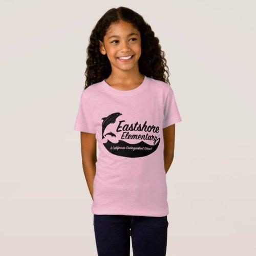 Girls Pink Jumping Dolphin T_Shirt
