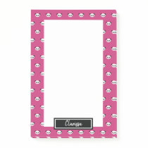 Girls Pink Personalized Panda Bear Animal Kids Post-it Notes