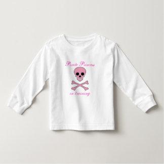 Girls Pink Pirate Princess in Training Tee