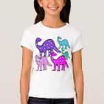 Girl's Pink & Purple Dinosaur Cartoon T-shirt Gift