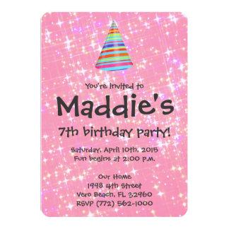 Invitation Card 7th Birthday Purplemoon Co