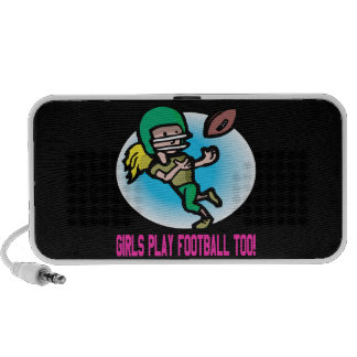 Girls Play Football Too iPod Speaker