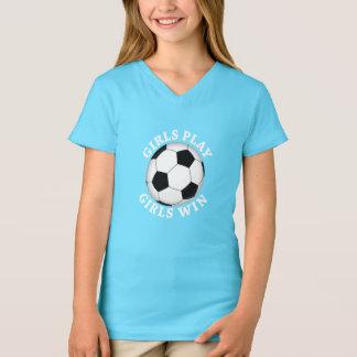 Girls Play, Girls Win Soccer T-Shirt