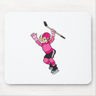Girls Play Hockey! Mouse Pad
