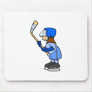 Girls Play Hockey!! Mouse Pad