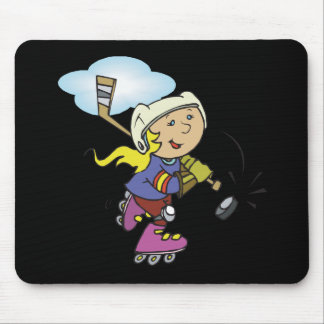 Girls Play Hockey Too Mouse Pad