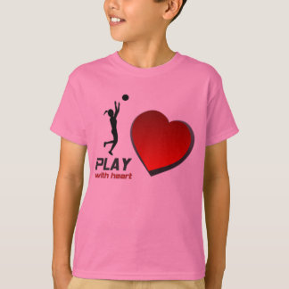 """GIRL'S """"PLAY WITH HEART"""" BASKETBALL T-SHIRT"""