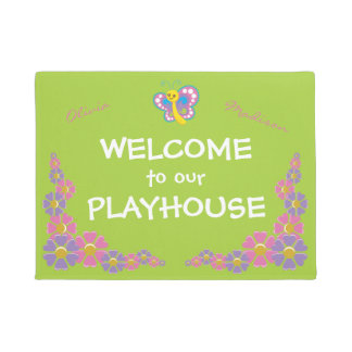 Girls Playhouse welcome Doormat