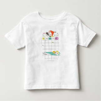 Girls playing by school and timetable t shirt