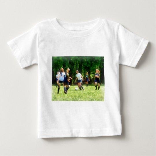 Girls Playing Soccer Baby T-Shirt