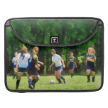 Girls Playing Soccer MacBook Pro Sleeve