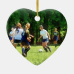 Girls Playing Soccer Ornaments