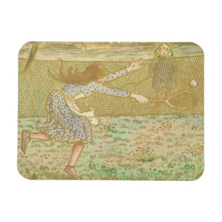 Girls Playing Tennis, from 'Woodcuts in Line and C Magnet