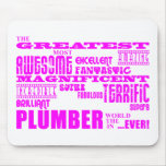 Girls Plumbers : Pink Greatest Plumber Mouse Pad