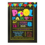 Girls Pool Birthday Party Card