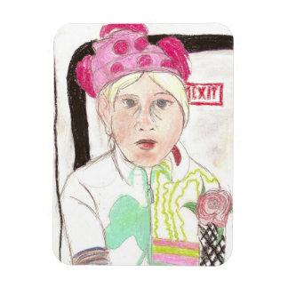 Girl's Portrait Magnet