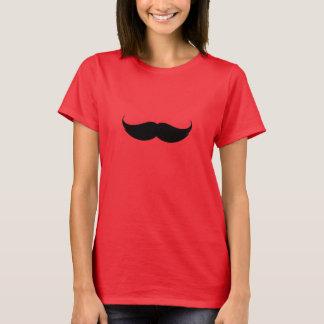 Girls Posh Red Moustache T-shirt