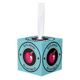 Girls power cube ornament