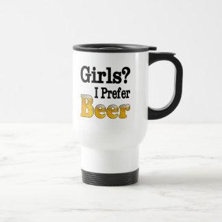 Girls Prefer Beer Travel Mug