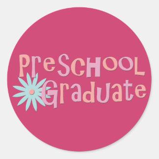 Girl's Preschool Graduation Gifts Classic Round Sticker