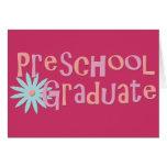 Girl's Preschool Graduation Gifts Greeting Card