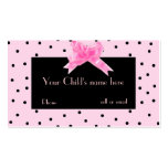 Girl's Pretty In Pink calling card