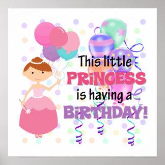 Girls Princess Birthday Poster