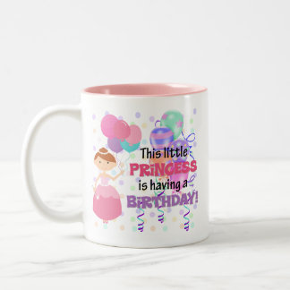 Girls Princess Birthday Two-Tone Coffee Mug
