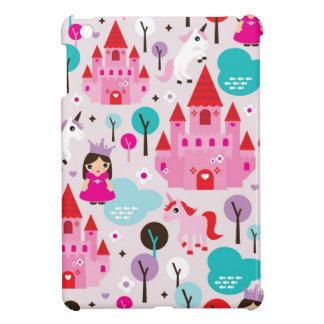 Girls princess castle and unicorn iphone case iPad mini cover