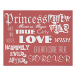 Girl's Princess Fairy Tale Poster
