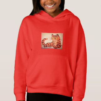 GIRLS' PULLOVER HOODIE - GOLDEN CAT