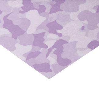 Girl's purple camo pattern tissue paper
