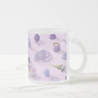 Girl's Purple Dream Frosted Glass Coffee Mug