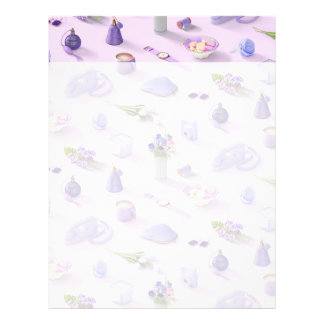 Girl's Purple Dream Letterhead