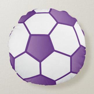 Girls' Purple Soccer Ball Round Pillow