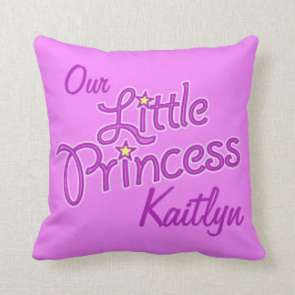 Girls purple star princess name & photo pillow