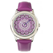 Girl's Purple Sundial Wrist Watch