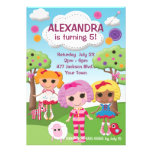 Girls Ragdoll Birthday Party Personalized Announcement