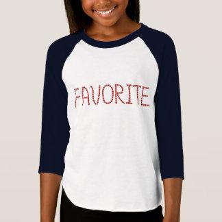 Girls' raglan T-shirt with 'favorite'