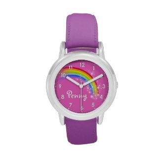 Girls rainbow name girls purple kids watch