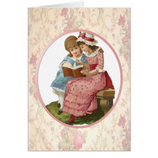 Girls Reading Card