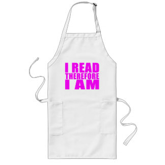 Girls Reading : I Read Therefore I Am Long Apron