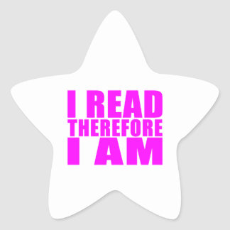 Girls Reading : I Read Therefore I Am Star Sticker